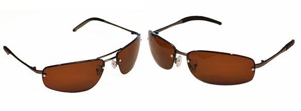 полуоправные очки металл